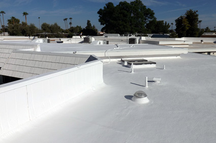 Siliconized Amp Elastomeric Roof Coating Service Phoenix Az
